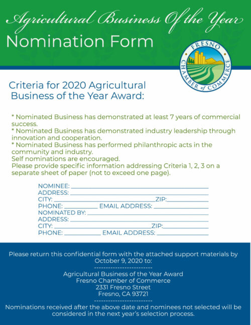 Ag Business Nom form (2020)